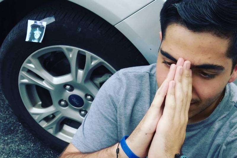 dad told son that someone slashed his tires