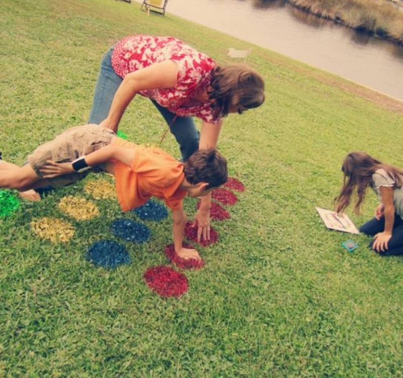 twister on the lawn paint