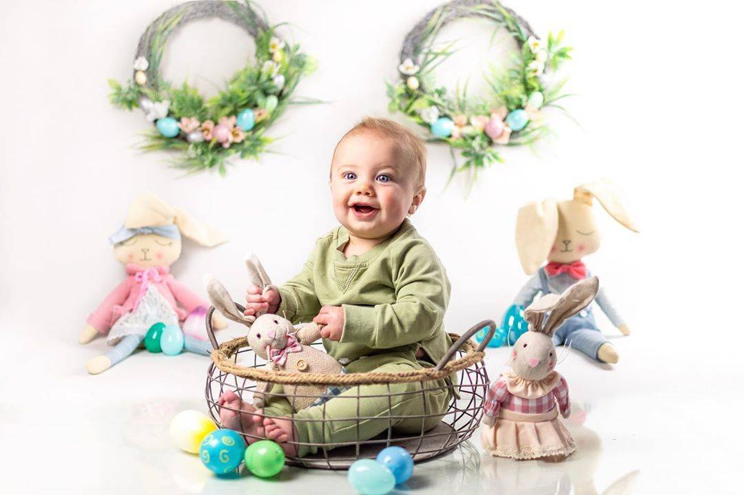 easter baby shoot
