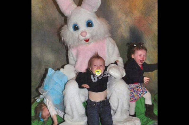 escaping the easter bunny all three kids