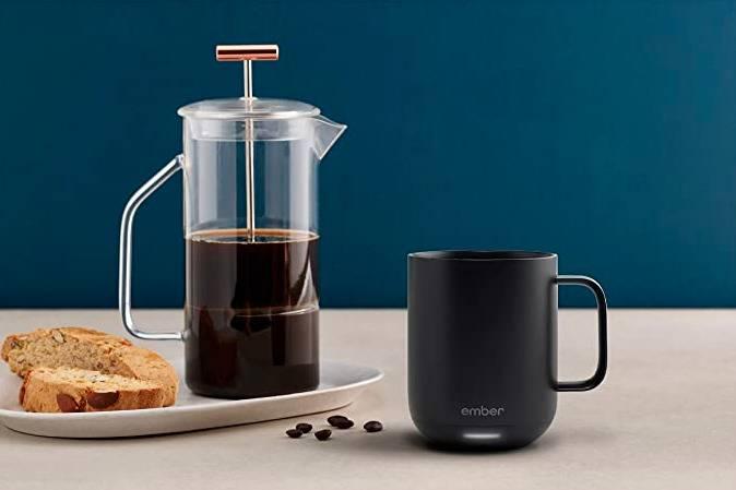 breakfast with an ember coffee mug