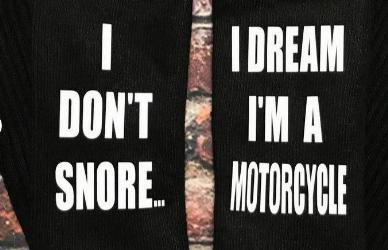 i dont snore black socks