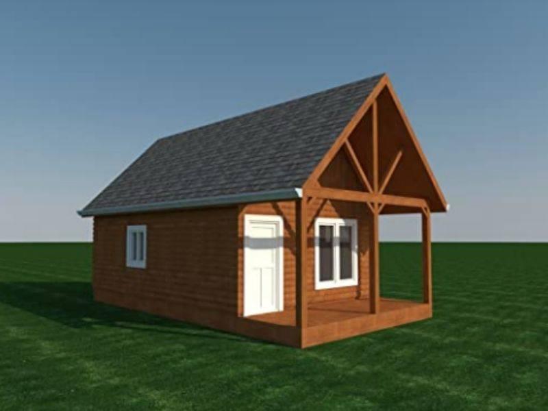 cabin diy plans render