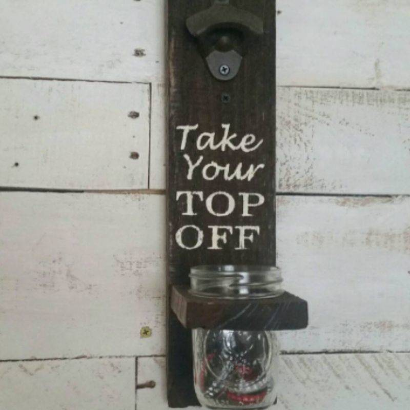take top off bottle opener on wall
