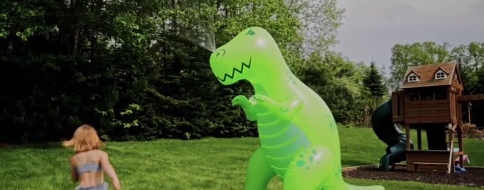 Ginormous Inflatable Dinosaur Yard Summer Sprinkler