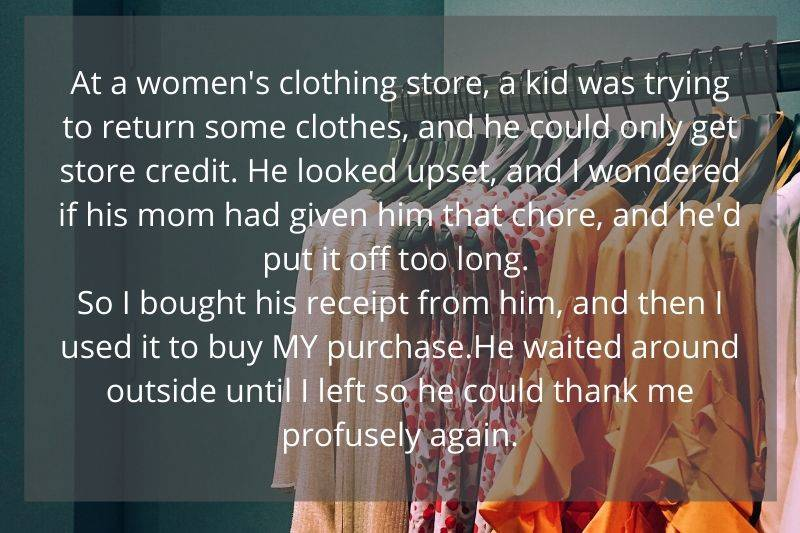 woman bought store credit from someone