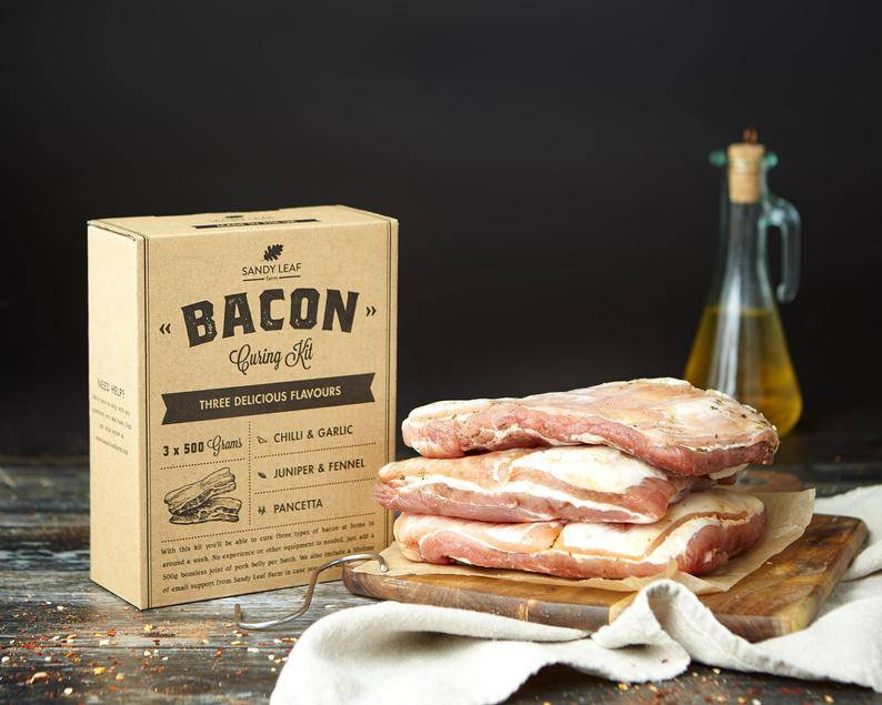 bacon curing kit from sandyleaffarm