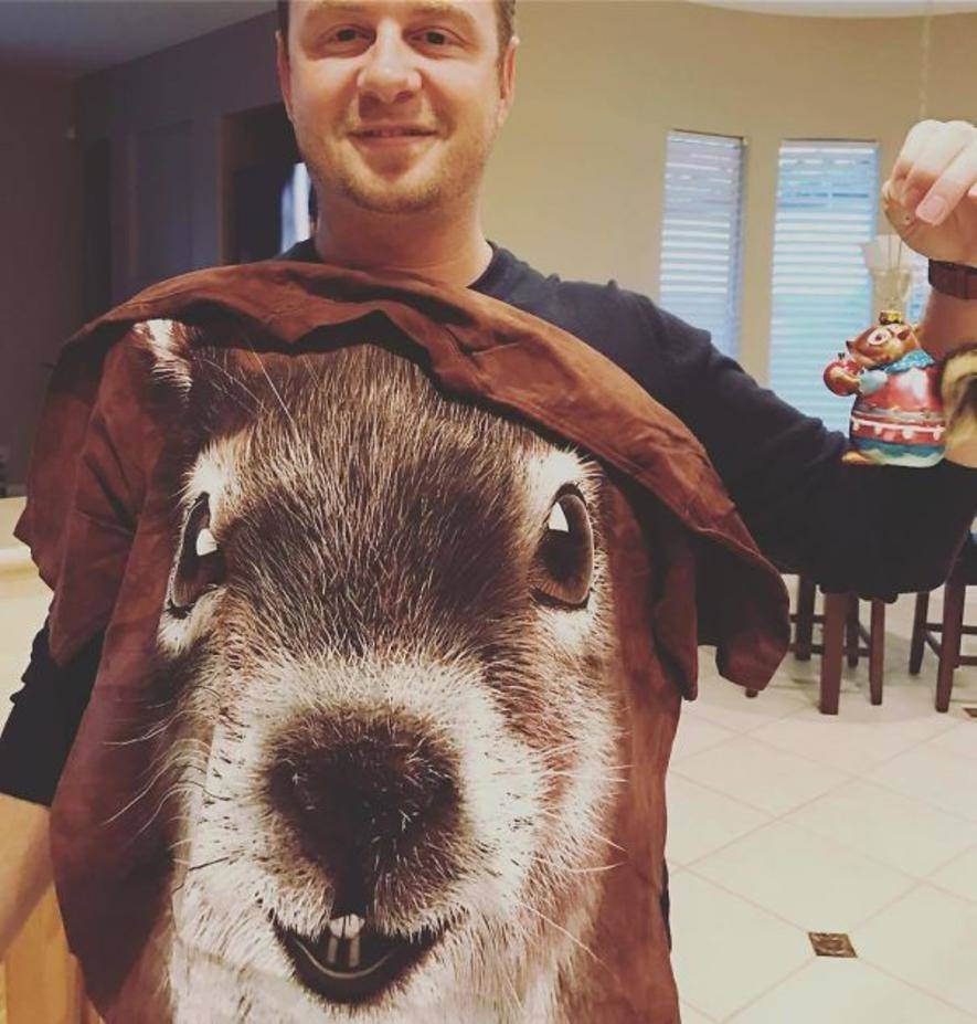 giant squirrel on shirt