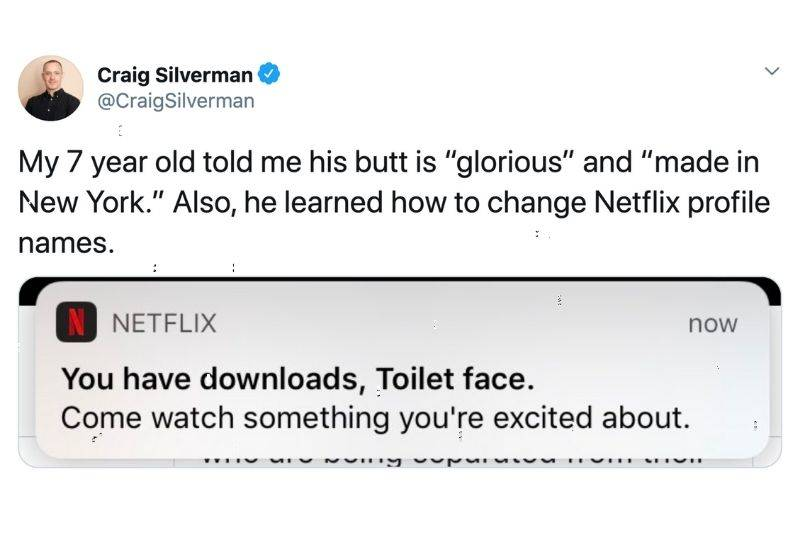 kid changed their dad's name to Toilet face on Netflix