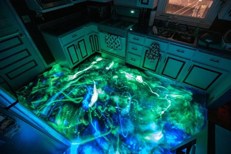 glowing floor