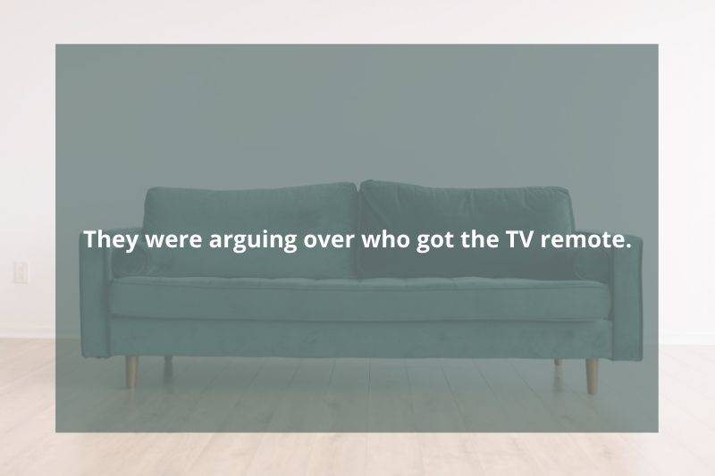 Couple couldn't stop arguing about who got the remote