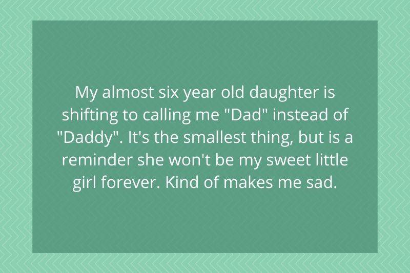 little girl started calling her dad, dad and not daddy