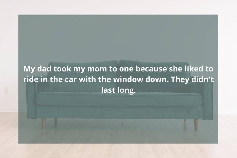 husband took his wife to a therapist because she liked driving with the window down