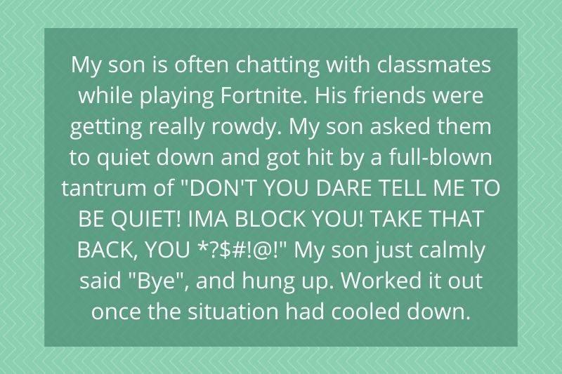 little boy didn't let his friends bully him