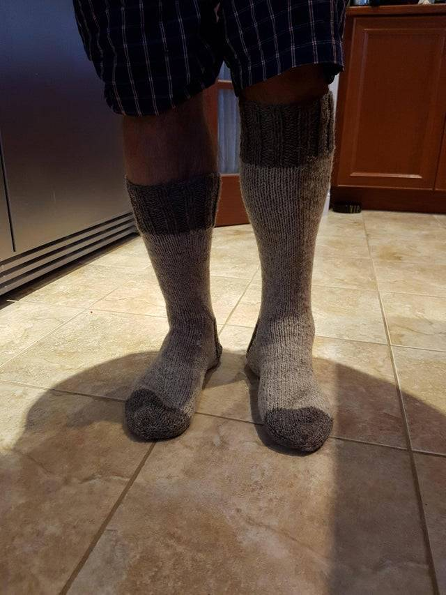 mismatched sock heights