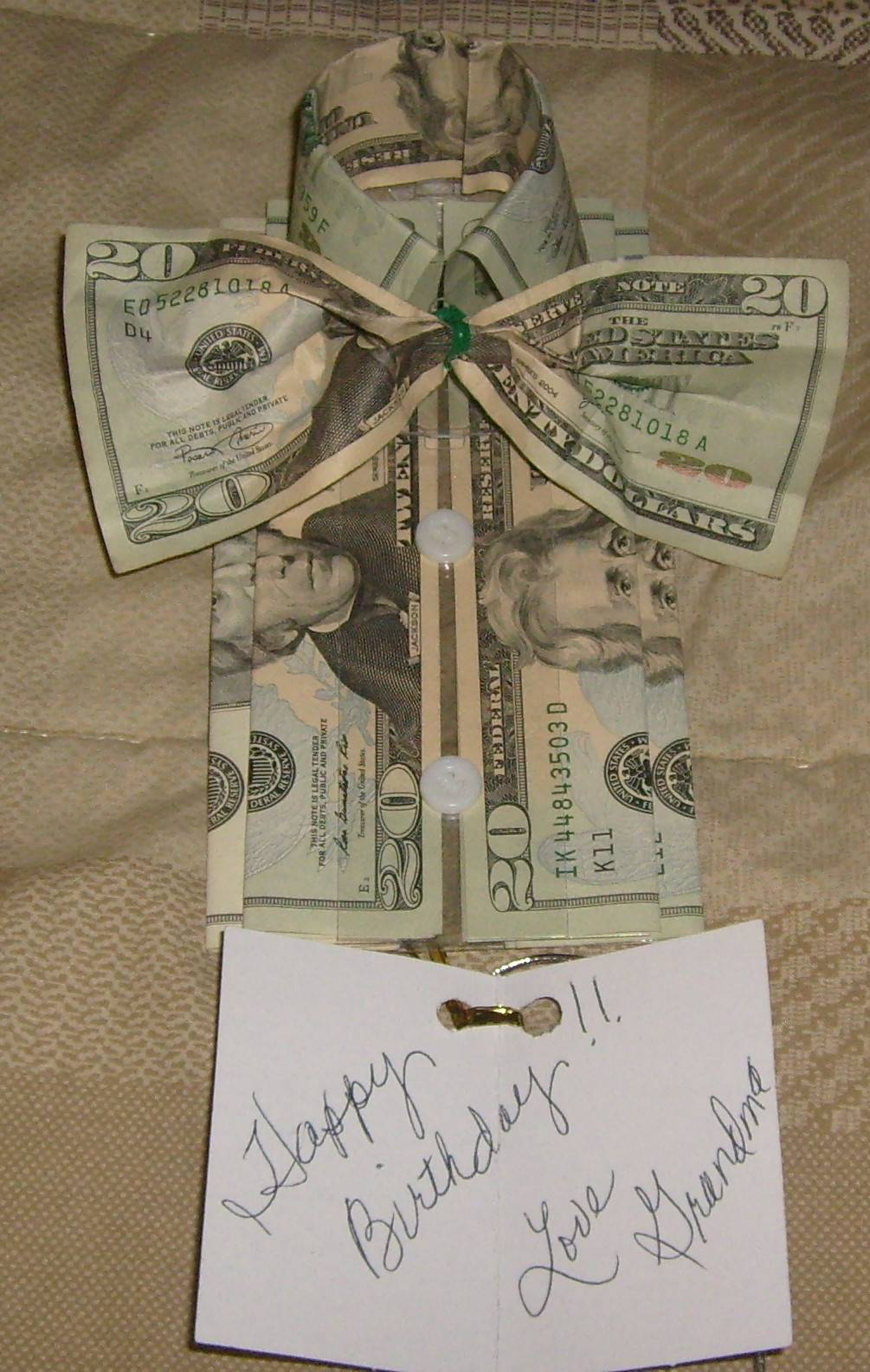 money tied together