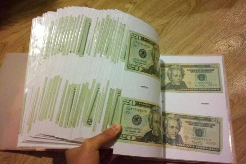 money photo album from grandma