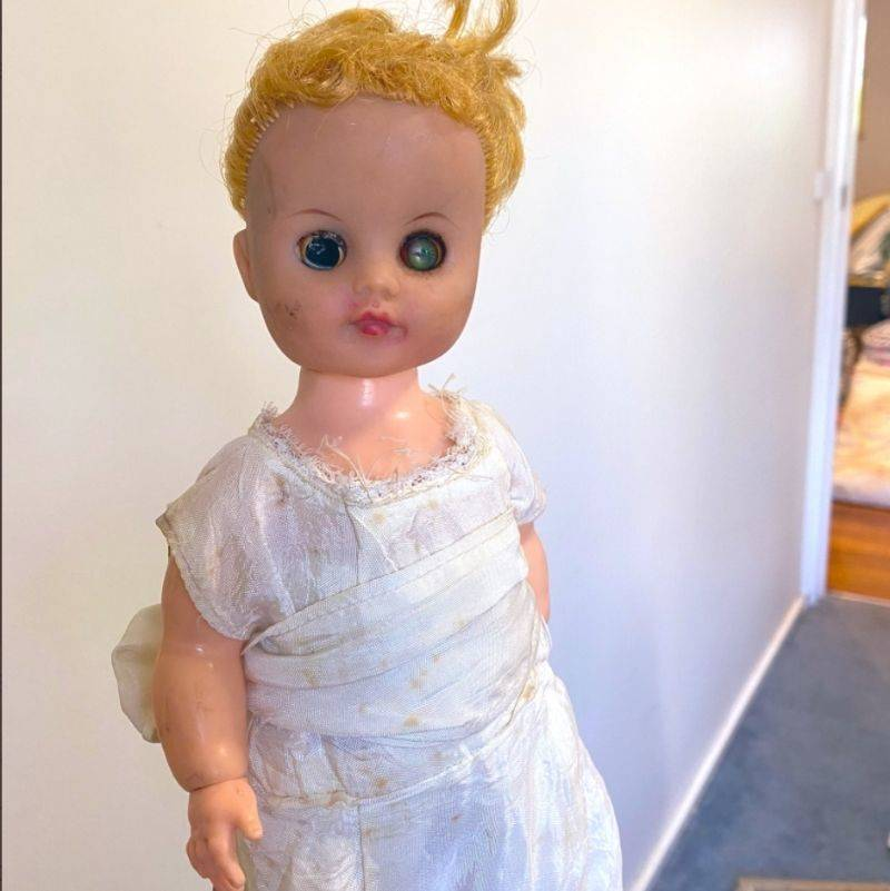 a scary doll that was hiding in a drawer