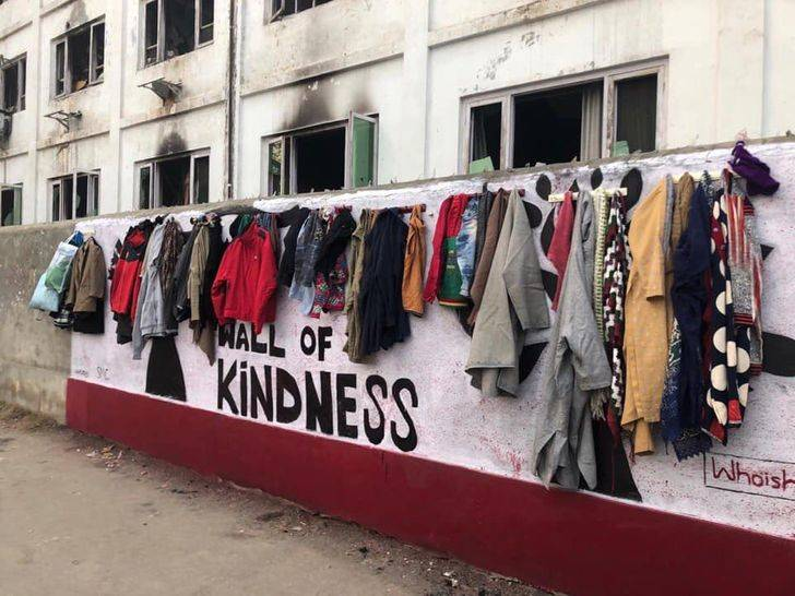 wall of free clothing in india