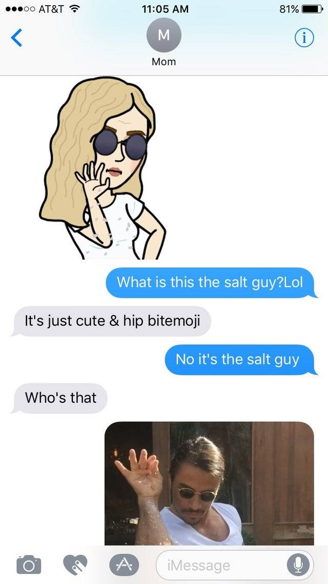 mom doesn't know who salt bae
