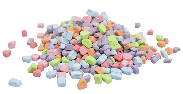 Pile of cereal marshmallows
