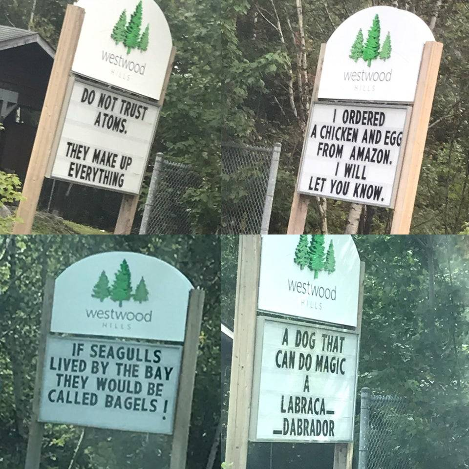 westood signs with funny messages