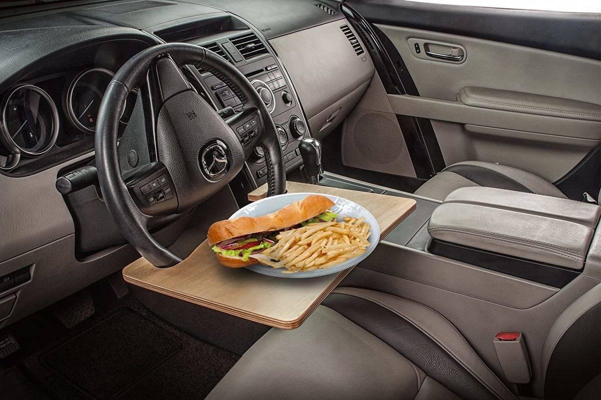car desk cafeteria