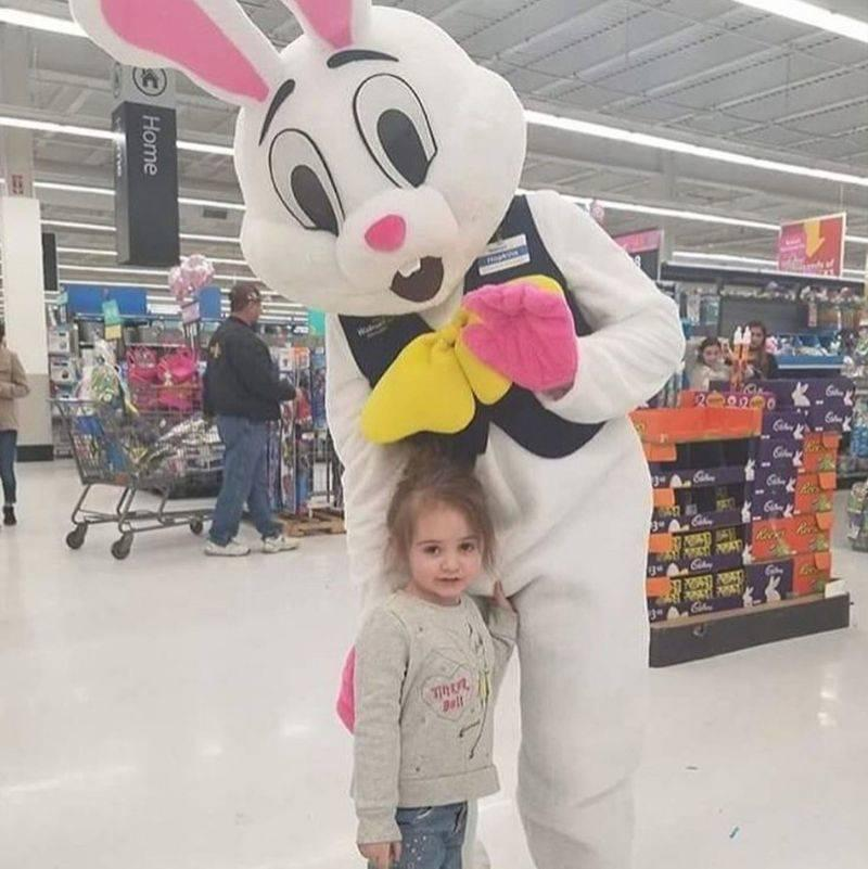 kid accidentally grabbing a rabbit's crotch