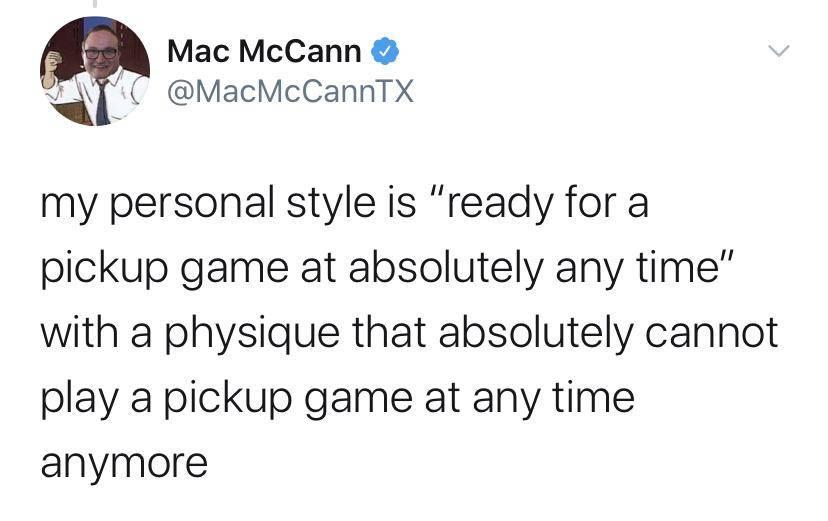 tweet: my personal style is