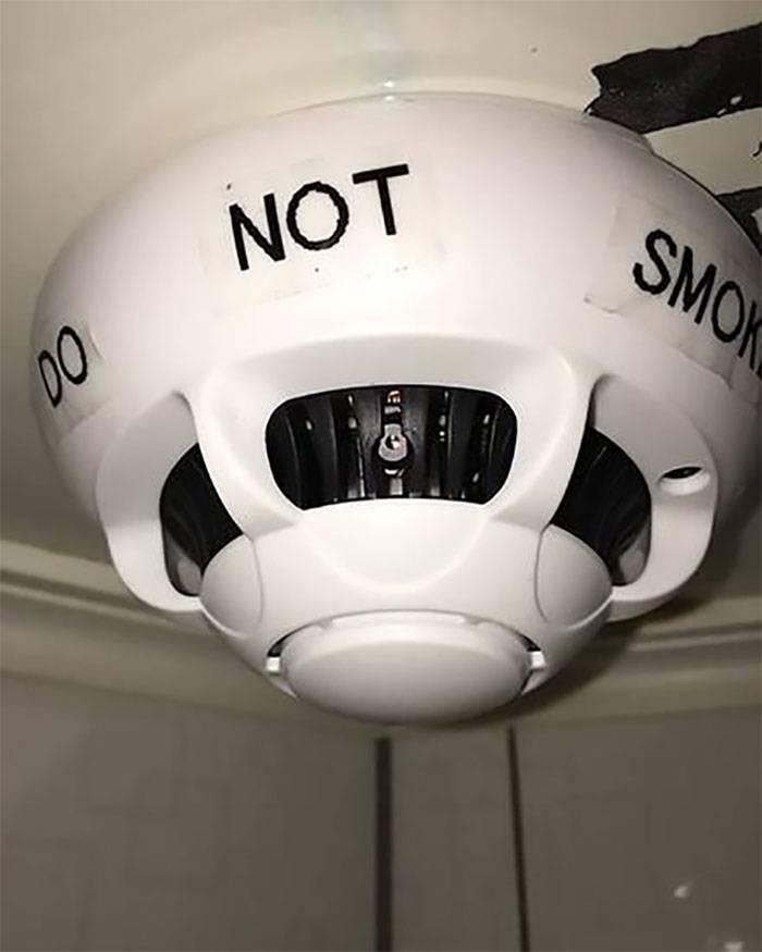 hidden camera in a smoke detector