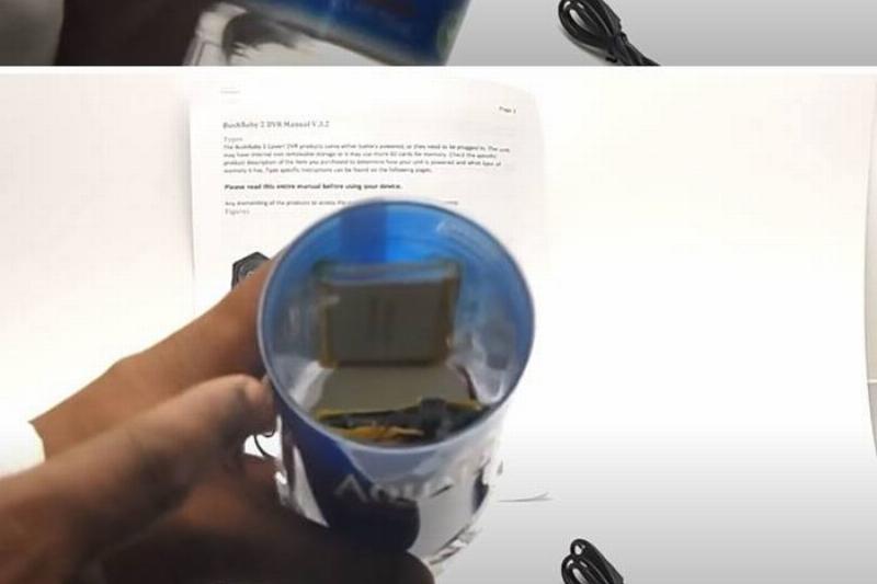 hidden camera in water bottle