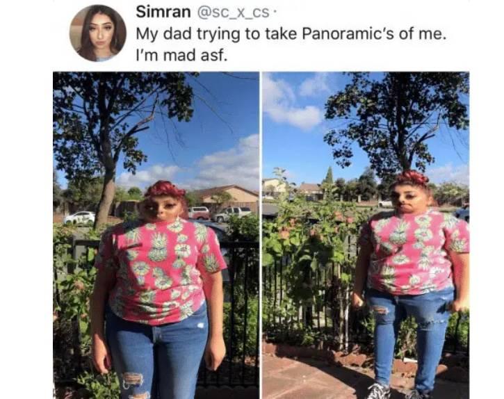 distorted panoramic shot