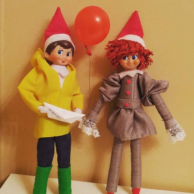 elves dressed like It characters