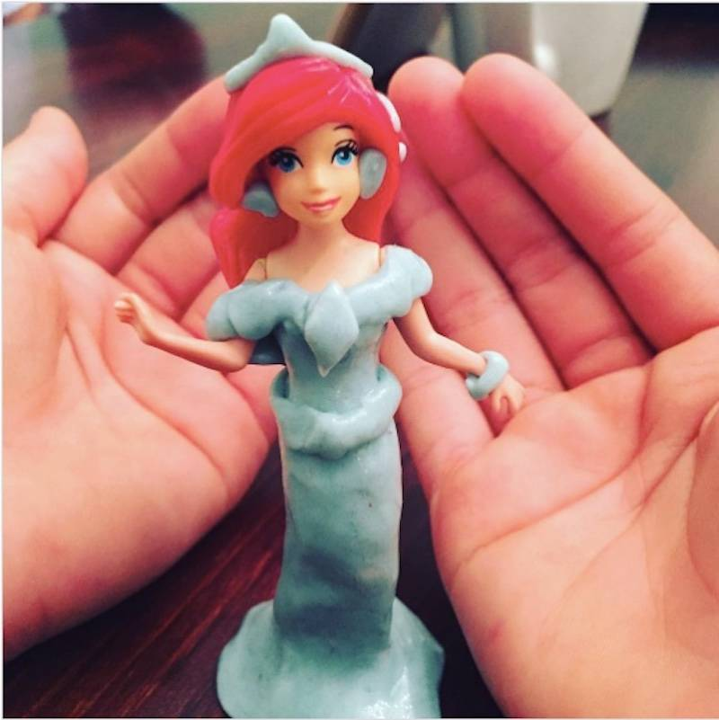 play doh as doll's dress