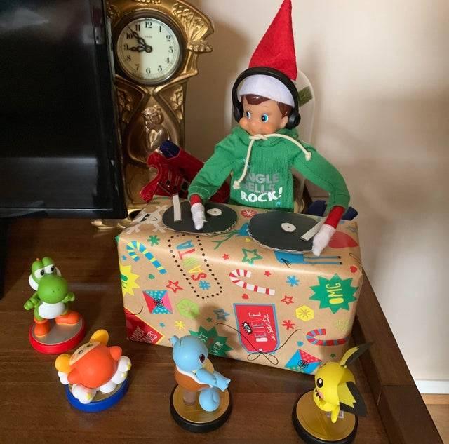 elf on the shelf dj with pokemon audience