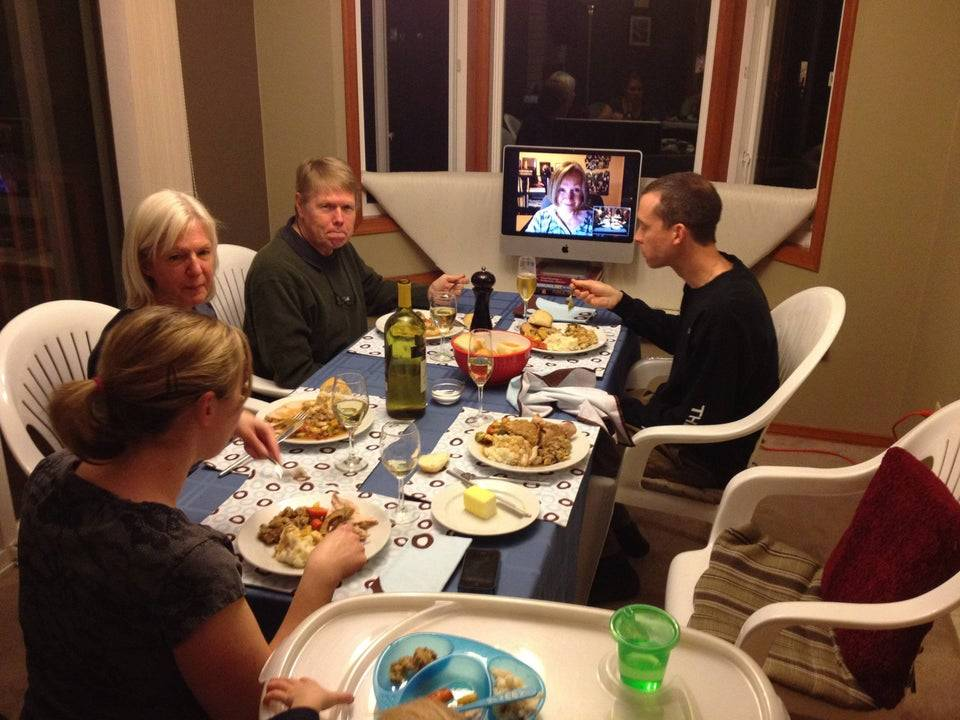 mother in law having virtual thanksgiving