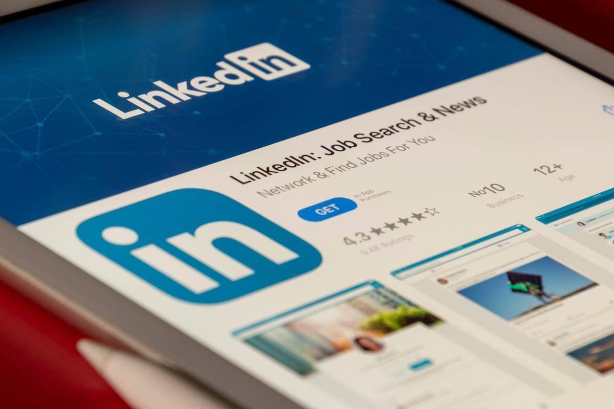 LinkedIn app open on mobile or tablet screen