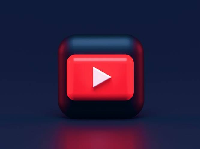 detailed graphic of youtube application icon for iPhone