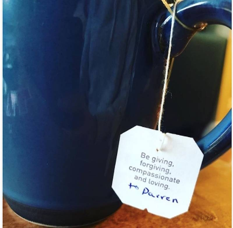name added to tea tag