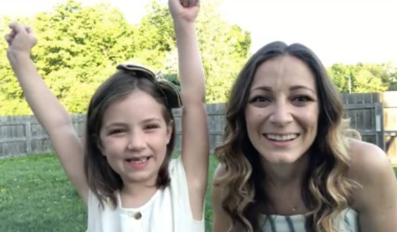 Kristen Grey and her daughter Rosie smiling
